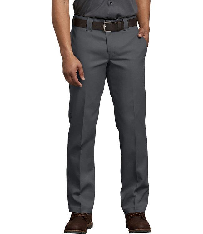 DICKIES 873 Slim Straight Work Pant Flex - Charcoal Grey