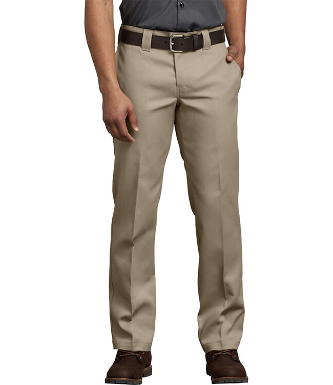 DICKIES 873 SLIM STRAIGHT WORK PANT FLEX - KHAKI