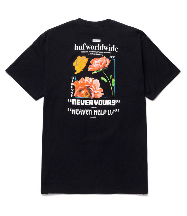 HUF NEVER YOURS S/S TEE - BLACK