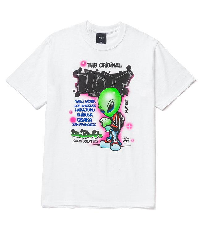 HUF UFO S/S TEE - WHITE