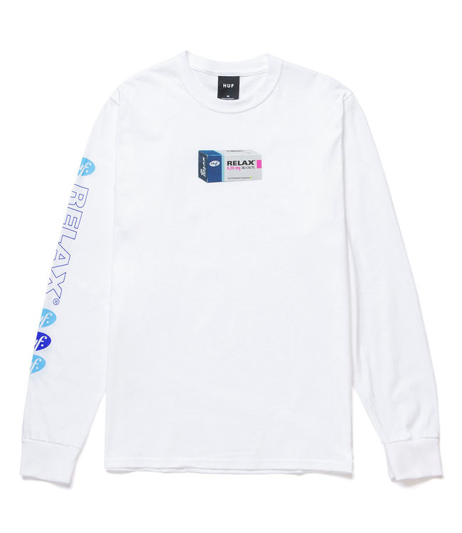 HUF RELAX L/S TEE - WHITE