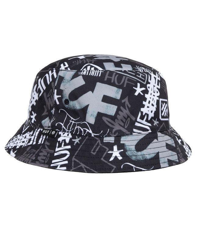 HUF HAZE BUCKET HAT - BLACK