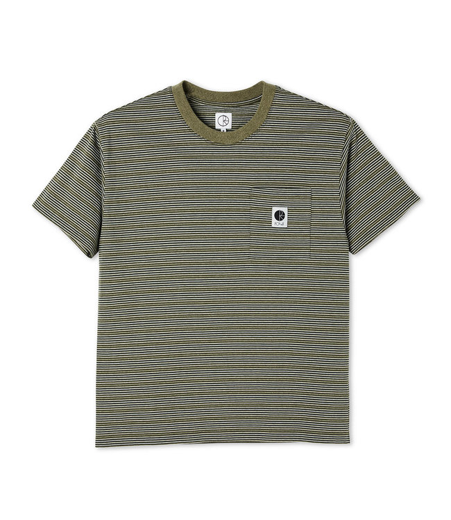 POLAR STRIPE POCKET TEE - ARMY GREEN