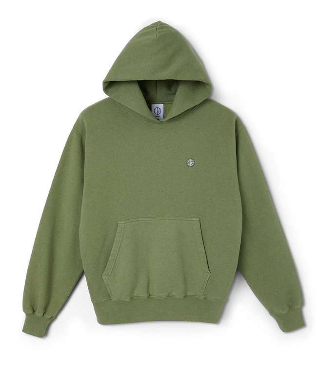 POLAR PATCH HOODIE - HEATHER GREEN