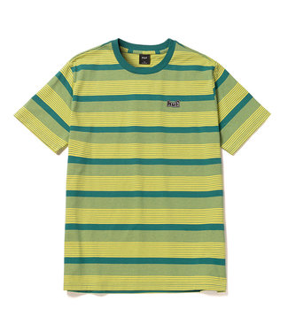 HUF BERKLEY STRIPE S/S KNIT TOP - LEMON