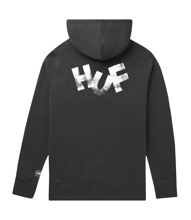 HUF HAZE BRUSH P/O HOODIE - BLACK