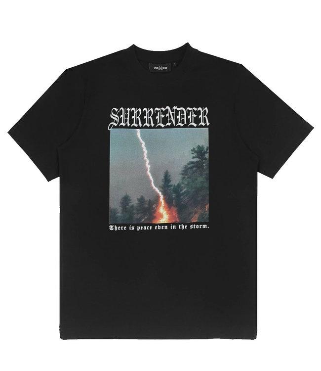WASTED PARIS T-SHIRT SURRENDER - BLACK