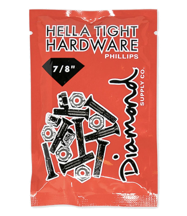 "DIAMOND DIAMOND HELLA TIGHT HARDWARE 7/8"" PHILLIPS - SILVER"