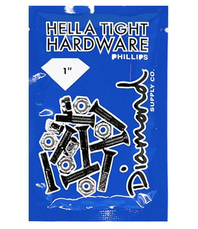 """DIAMOND DIAMOND HELLA TIGHT HARDWARE 1"""" PHILLIPS - SILVER"""