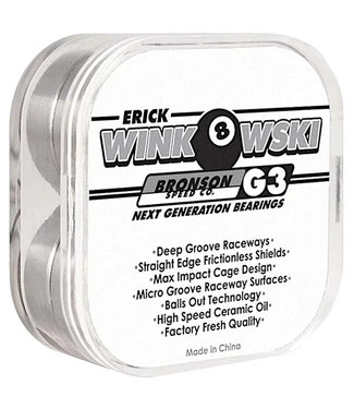BRONSON SPEED CO. Eric Winkowski Pro G3 Bearings - Black/White