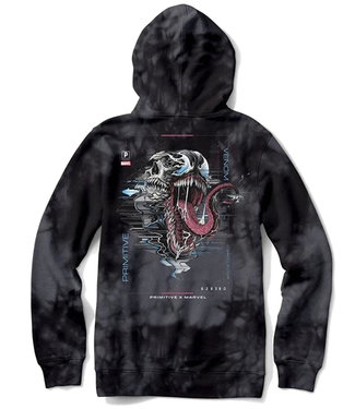 PRIMITIVE MARVEL X PJ VENOM WASHED HOOD - BLACK
