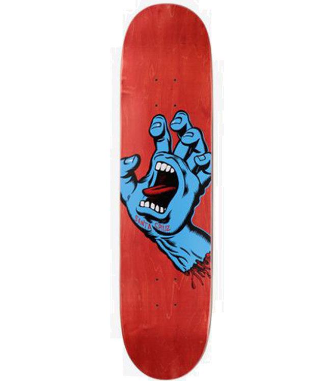 SANTA CRUZ SCREAMING HAND DECK RED/BLUE - 7.8