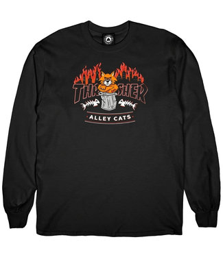 THRASHER Alley Cats L/S - Black
