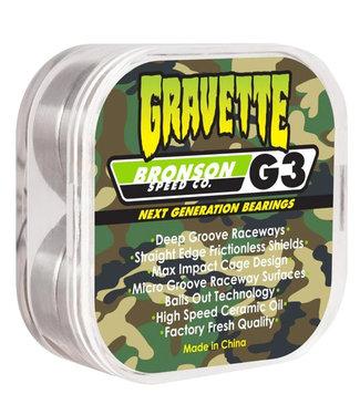 BRONSON SPEED CO. David Gravette Pro G3 Bearings - Orange/silver