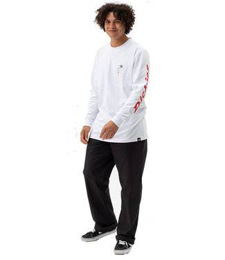 DICKIES Jamie Foy Graphic T-shirt longsleeve - White