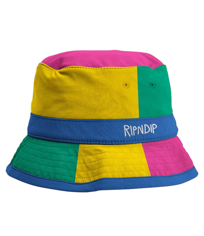 RIPNDIP Perfect Shade Water Resistand Nylon Bucket Hat - Multi