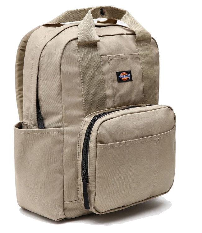 DICKIES Back Pack W/ Lap Top Sleeve+Extra Pocket - Khaki