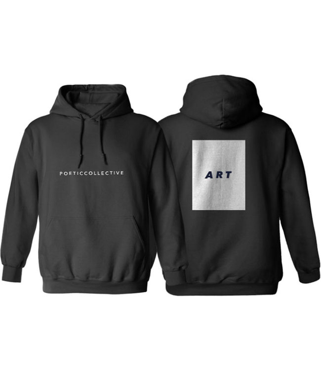 POETIC COLLECTIVE Art Hoodie - Black/White
