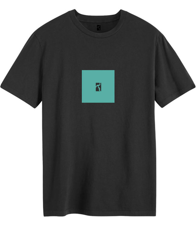 POETIC COLLECTIVE Box T-Shirt - Black/Turquoise