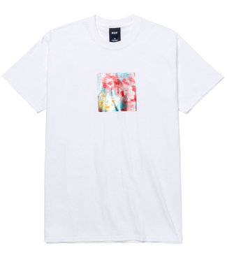 HUF Foil Flower Box Logo S/S Tee - White