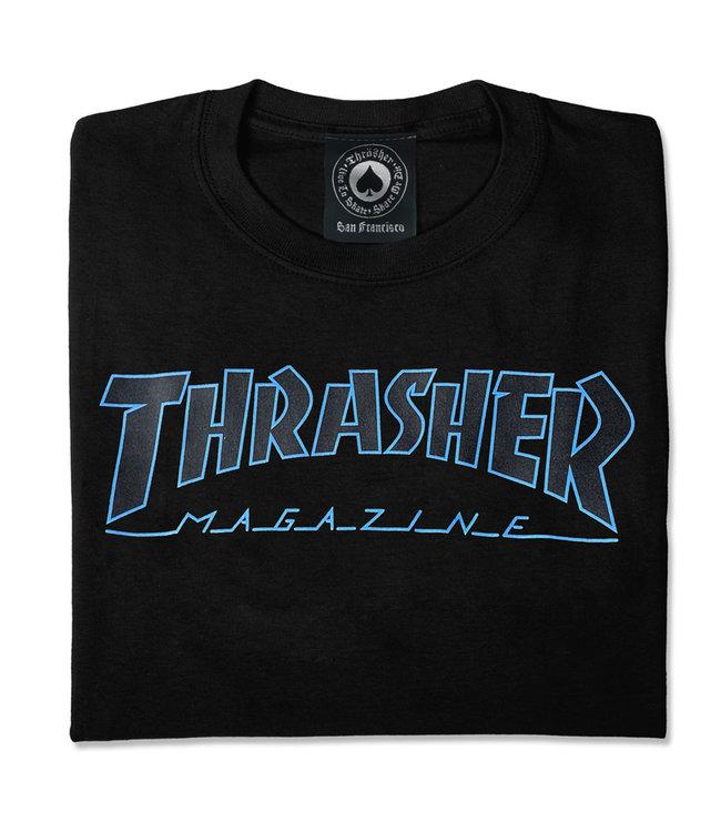 THRASHER Outlined T-Shirt - Black/black