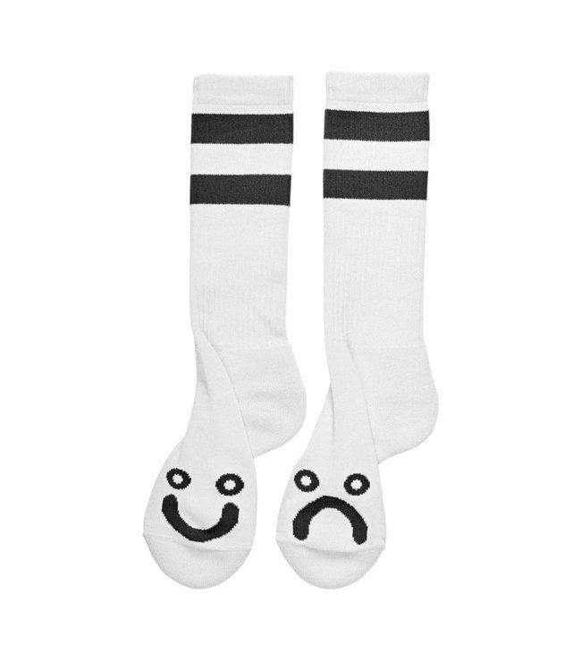 POLAR Happy Sad Socks Long - White