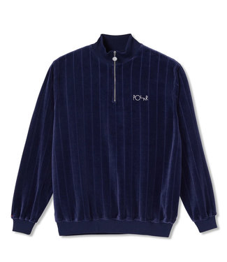 POLAR Velour Zipneck Sweatshirt - Rich Navy