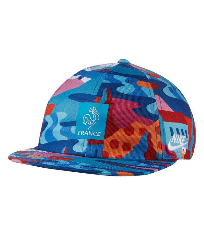 NIKE SB Printed Skate Cap - Neptune Blue/White