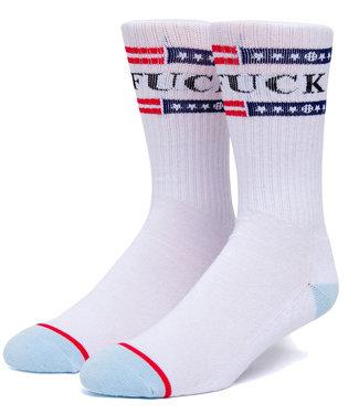 HUF 4Th of July Fuck It Sock - White