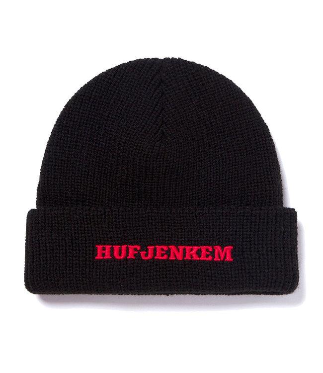 HUF Teamwork Cuff Beanie - Black