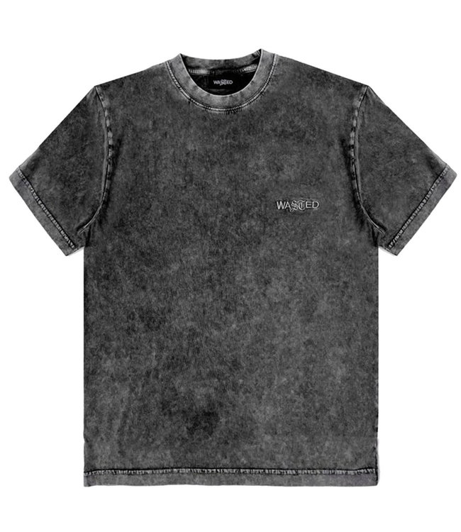 WASTED PARIS T-Shirt Faded Signature - Faded Black
