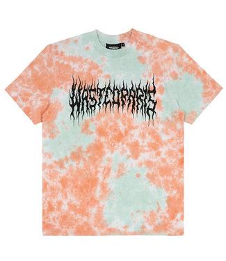 WASTED PARIS T-Shirt Tie & Dye Fire Bridge - Orange & Green