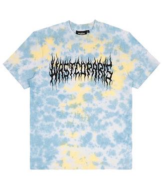 WASTED PARIS T-Shirt Tie & Dye Fire Bridge - Yellow & Blue