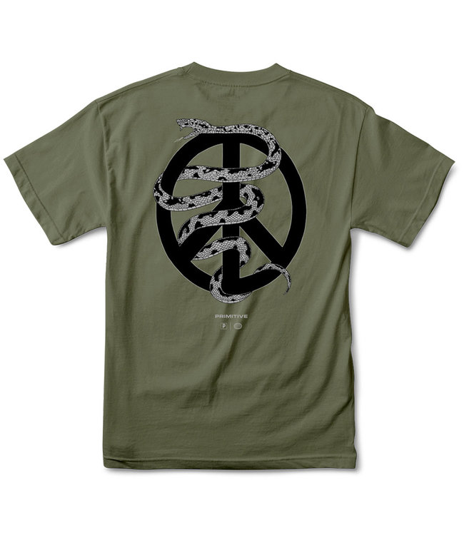 PRIMITIVE Agenda Tee - Military Green