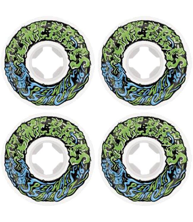 SANTA CRUZ Slime Balls 2 Mini White/Green/Blue - 54mm 97a