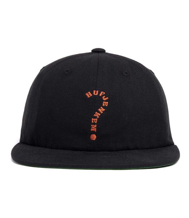 HUF Enigma 6 Panel Hat - Black