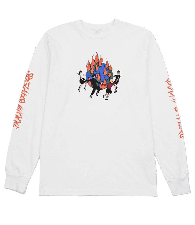 DOOM SAYERS World On Fire Long Sleeve  -  White