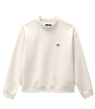 DICKIES Oakport High Neck Sweatshirt - Ecru