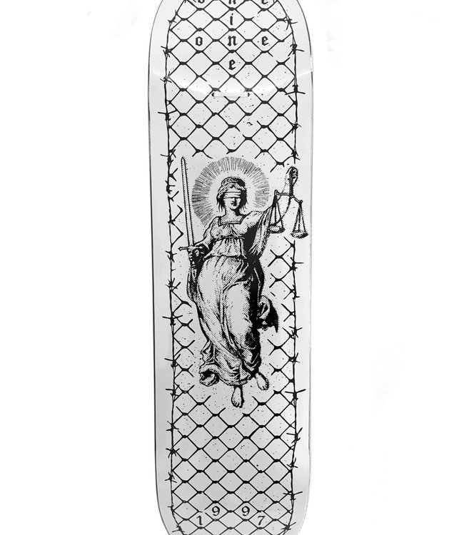 NINE ONE ONE Lady Justice Deck White - 8.5