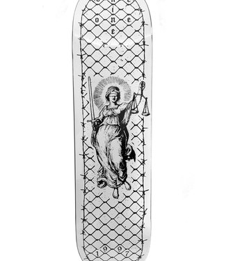 NINE ONE ONE Lady Justice Deck White - 8.25