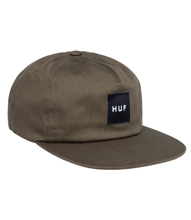 HUF Ess. Unstructured Box Snapback - Olive