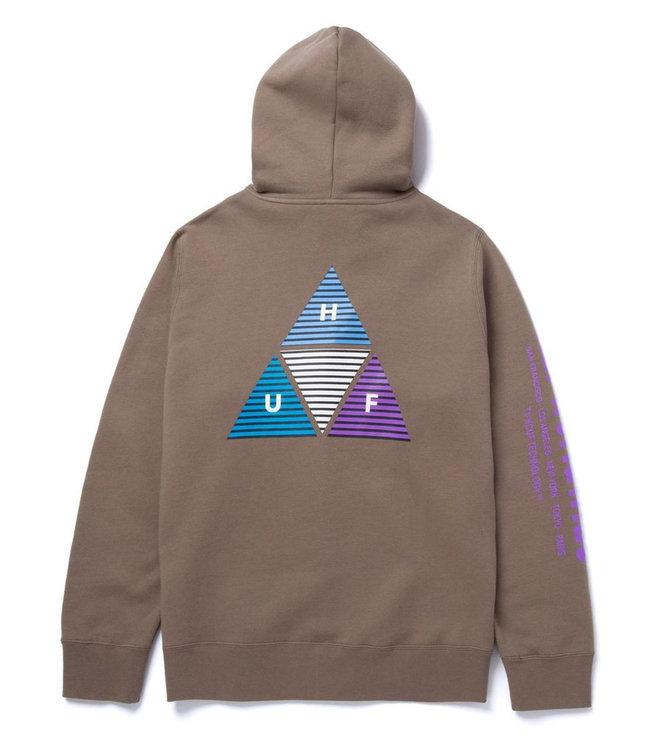 HUF Prism Tt Full Zip Hoodie - Walnut