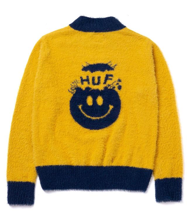 HUF Disorder Jacquard Knit Sweater - Gold
