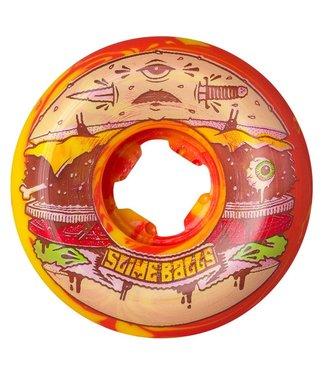 SANTA CRUZ Jeremy Fish Burger Speed Balls Red/Yellow - 56mm 99a
