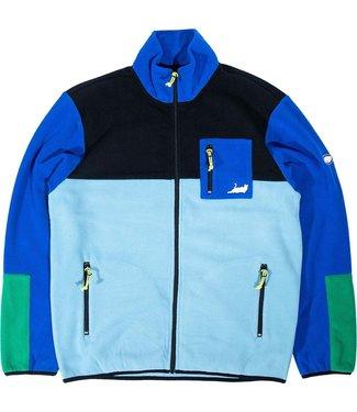 RIPNDIP Alameda Color Block Polar Fleece Jacket - Black & Royal