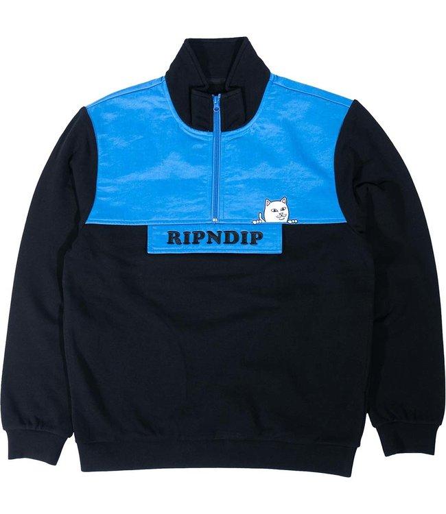 RIPNDIP Beverly Half Zip Jacket - Blue