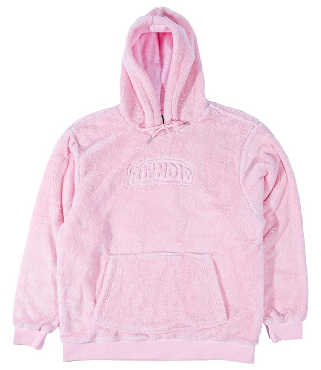 RIPNDIP Bubble Sherpa Embroidered Hoodie - Pink
