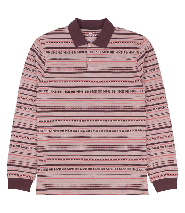 NIKE SB The Nike Polo - Pink Oxford/Dark Wine/Pink Salt