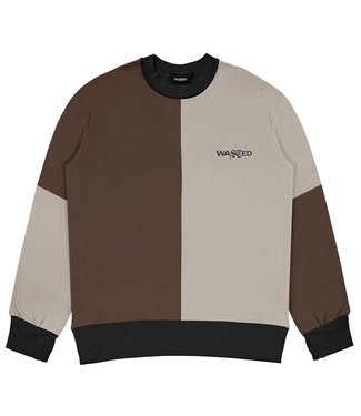 WASTED PARIS Crew Neck Patchwork Earth - Brown - Sand