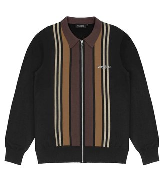 WASTED PARIS Polo Long Sleeves Brighton - Black/Brown/Sand